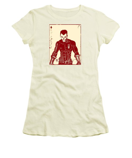 Women's T-Shirt (Junior Cut) featuring the drawing Shadowman Poster by Justin Moore