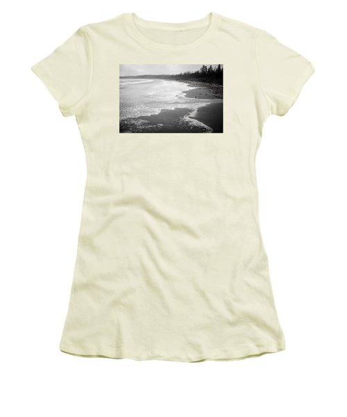 Winter At Wickaninnish Beach Women's T-Shirt (Athletic Fit)