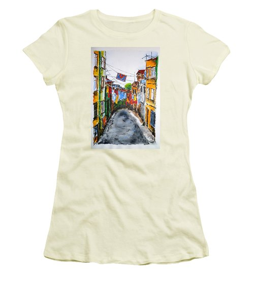 Side Street Women's T-Shirt (Junior Cut) by Zaira Dzhaubaeva