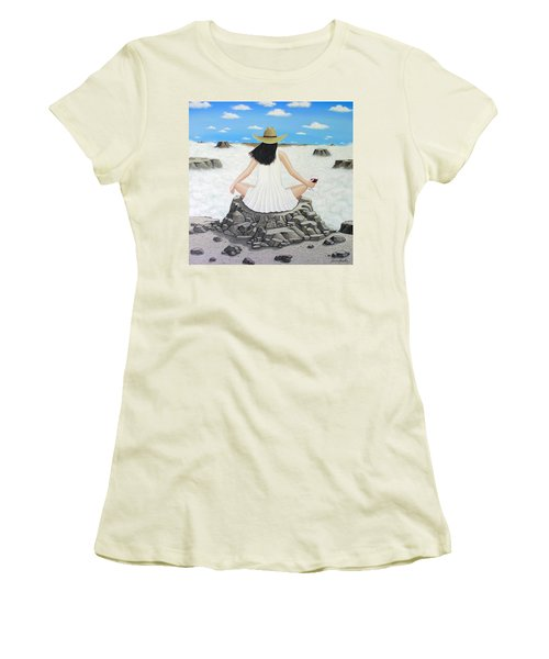 Sippin' On Top Of The World Women's T-Shirt (Junior Cut) by Lance Headlee