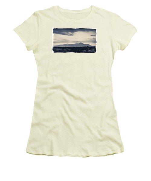 Sleeping Ute Mountain Women's T-Shirt (Junior Cut) by Janice Rae Pariza