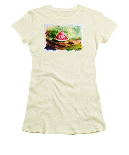 Sliced Watermelon Women's T-Shirt (Athletic Fit)