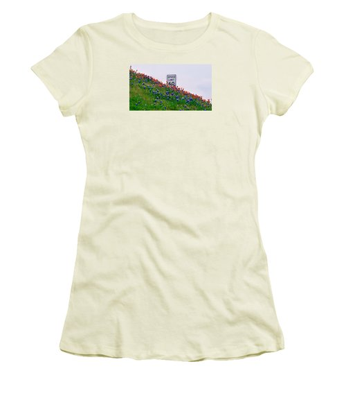Slow Down And Smell The Bluebonnets Women's T-Shirt (Athletic Fit)