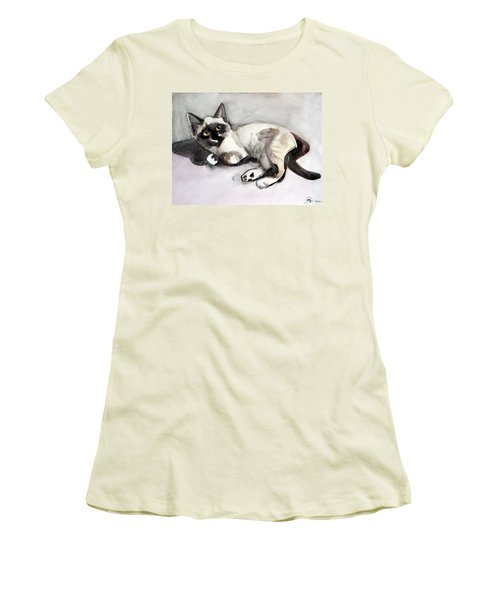 Smudge At 8 Weeks  Women's T-Shirt (Athletic Fit)