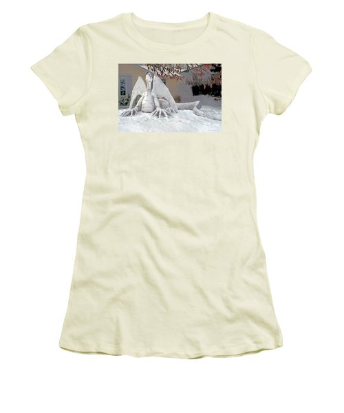 Snow Dragon 3 Women's T-Shirt (Athletic Fit)