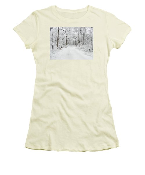 Snow In The Park Women's T-Shirt (Athletic Fit)