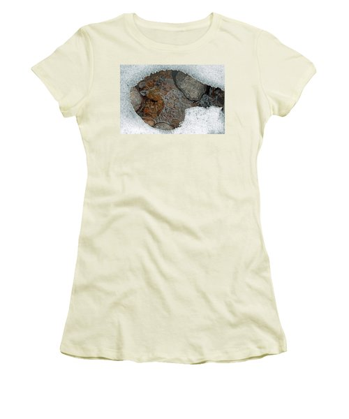 Snow Melt 3 Women's T-Shirt (Junior Cut) by Minnie Lippiatt