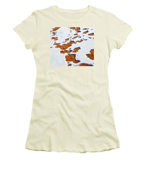 Snow On Dunes Women's T-Shirt (Athletic Fit)
