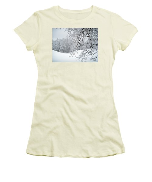 Snowy Branches Women's T-Shirt (Athletic Fit)