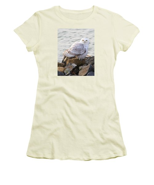 Snowy Owl In New Jersey Women's T-Shirt (Athletic Fit)