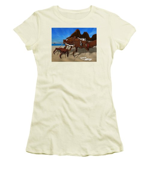 Soft Grand Piano With Camera - Panoramic Women's T-Shirt (Athletic Fit)