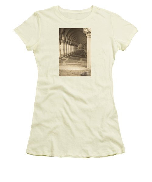 Solitude Under Palace Arches Women's T-Shirt (Athletic Fit)