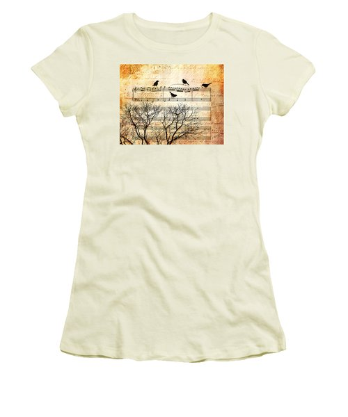 Songbirds Women's T-Shirt (Athletic Fit)