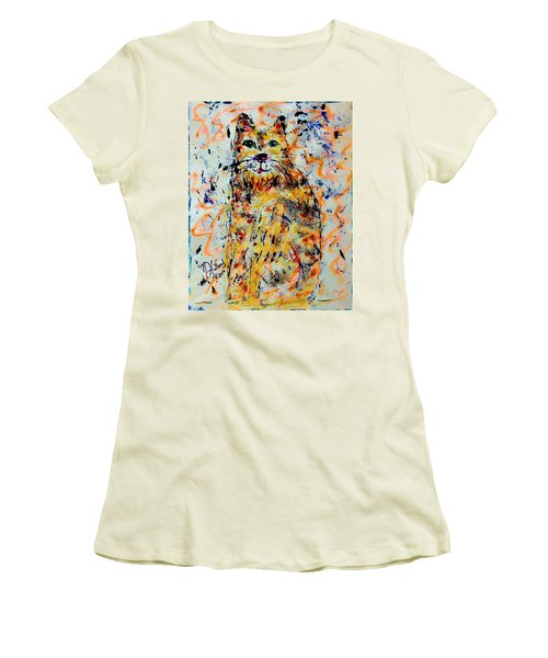 Sophisticated Cat 3 Women's T-Shirt (Junior Cut) by Natalie Holland