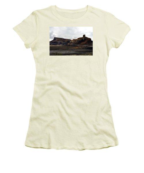 Source Of The Mud Flood Women's T-Shirt (Junior Cut) by Lon Casler Bixby