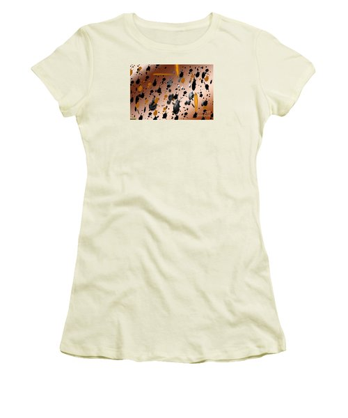 Women's T-Shirt (Junior Cut) featuring the photograph Splatters by Tina M Wenger