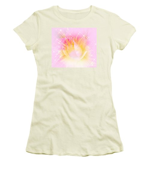 Women's T-Shirt (Junior Cut) featuring the photograph Sparkling Starlight Burst Abstract by Judy Palkimas