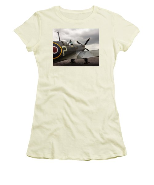 Spitfire On Display Women's T-Shirt (Athletic Fit)