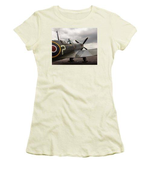 Spitfire On Display Women's T-Shirt (Junior Cut)