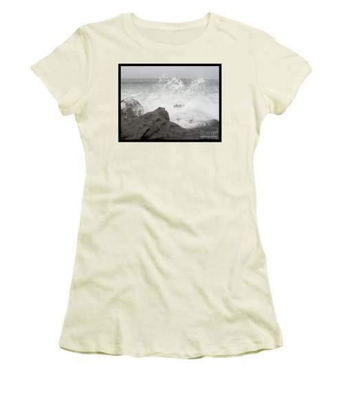 Women's T-Shirt (Junior Cut) featuring the photograph Splash And Gray by Glenn McCarthy Art and Photography