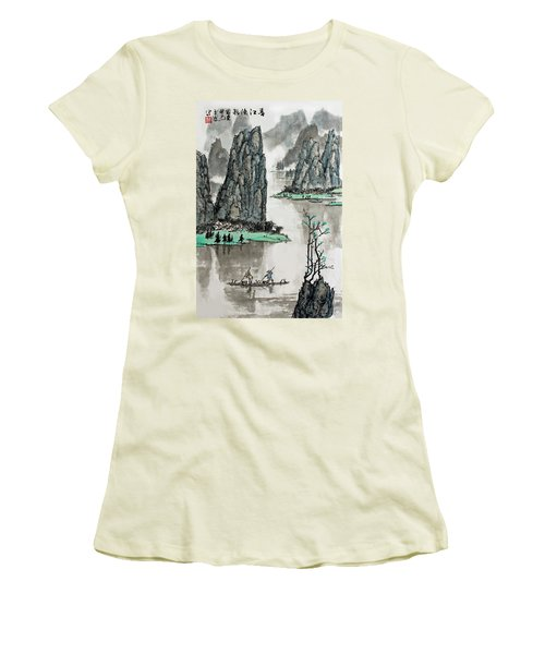 Spring River Women's T-Shirt (Junior Cut) by Yufeng Wang