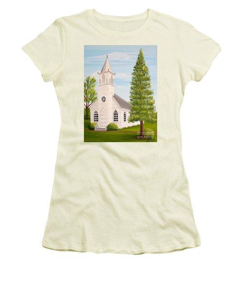 St. Gabriel The Archangel Roman Catholic Church Women's T-Shirt (Athletic Fit)