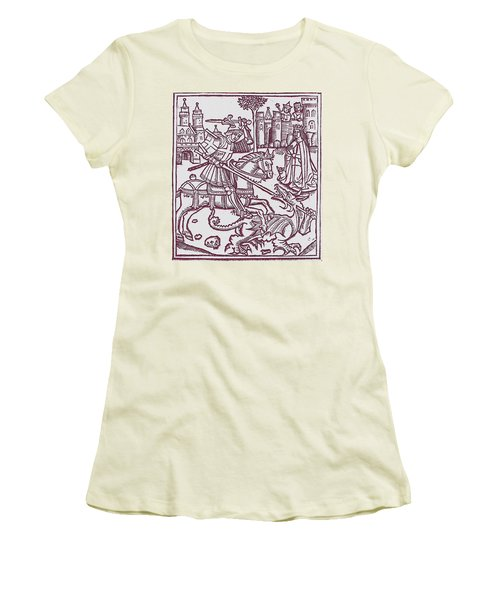 St. George - Woodcut Women's T-Shirt (Athletic Fit)