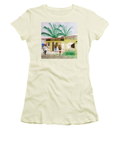 St. Lucia Store Women's T-Shirt (Junior Cut) by Frank Hunter