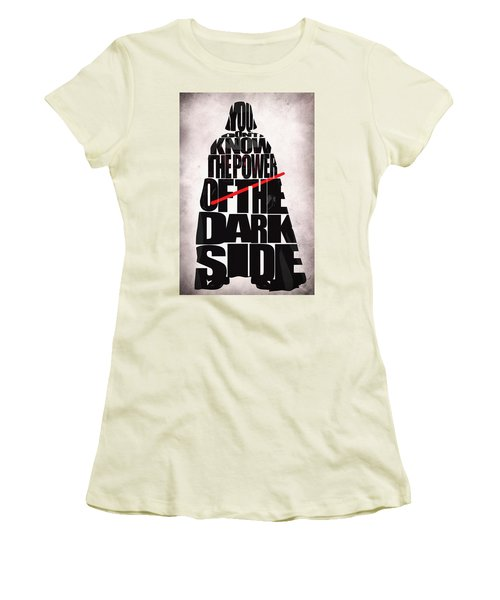 Star Wars Inspired Darth Vader Artwork Women's T-Shirt (Athletic Fit)