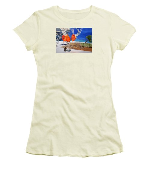 State Of Emotion The Pulse Let It Work... Women's T-Shirt (Junior Cut) by Lazaro Hurtado