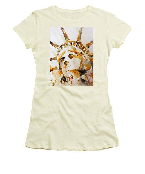 Statue Of Liberty Closeup Women's T-Shirt (Athletic Fit)