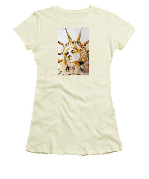 Statue Of Liberty Closeup Women's T-Shirt (Athletic Fit)