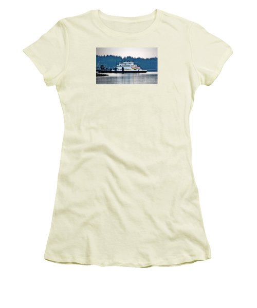 Steilacoom Ferry At Dusk Women's T-Shirt (Junior Cut) by Chris Anderson