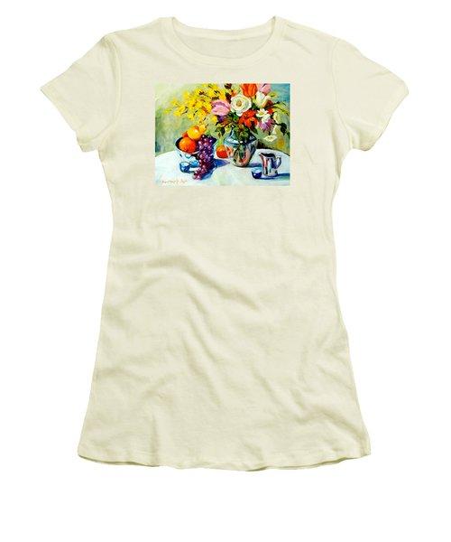 Still Life Creamer Women's T-Shirt (Junior Cut) by Alexandra Maria Ethlyn Cheshire