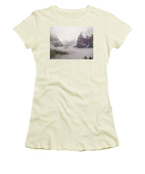 Storm Brewing Women's T-Shirt (Junior Cut) by Bill Gallagher