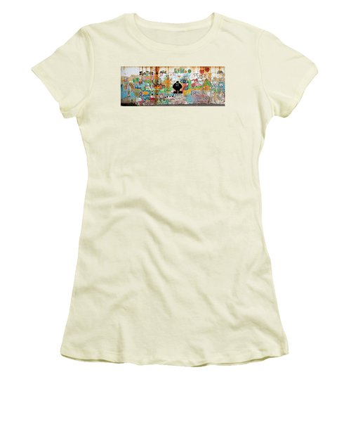 Street Mural At Liguanea Women's T-Shirt (Athletic Fit)