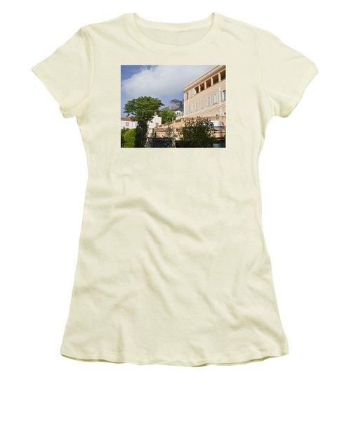 Women's T-Shirt (Junior Cut) featuring the photograph Street Of Monaco by Allen Sheffield
