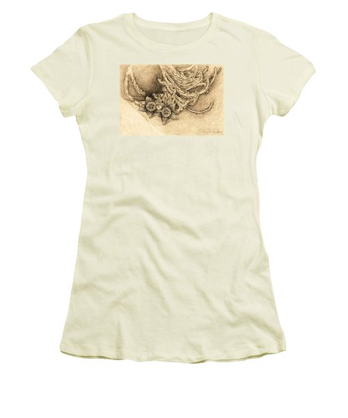 Succulent Flowers Women's T-Shirt (Athletic Fit)