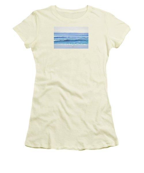 Summer Seascape Women's T-Shirt (Junior Cut) by Jan Matson