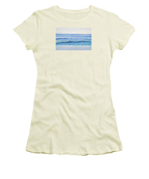 Summer Seascape Women's T-Shirt (Athletic Fit)