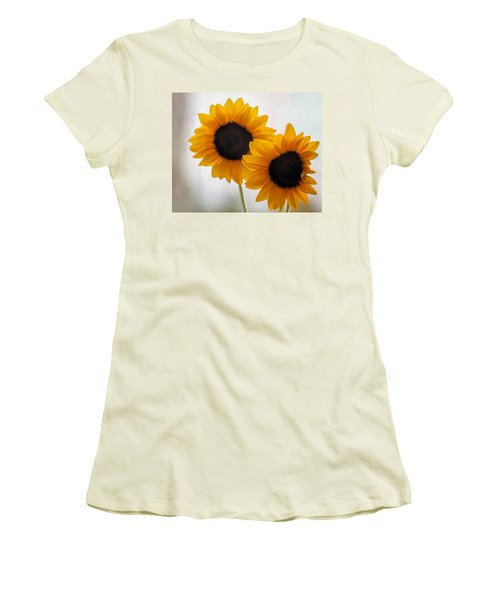 Sunny Flower On A Rainy Day Women's T-Shirt (Junior Cut) by Tammy Espino