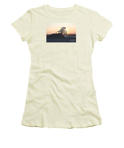 Sunset At Jones Beach Women's T-Shirt (Junior Cut) by John Telfer