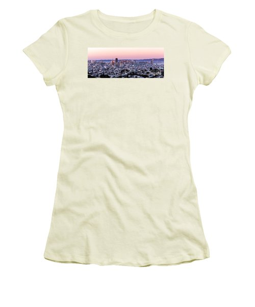 Sunset Cityscape Women's T-Shirt (Athletic Fit)