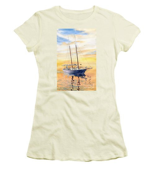 Sunset Cruise Women's T-Shirt (Junior Cut) by Melly Terpening