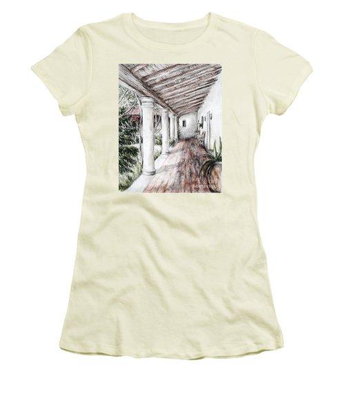 Sunshine On Portico Women's T-Shirt (Junior Cut) by Danuta Bennett