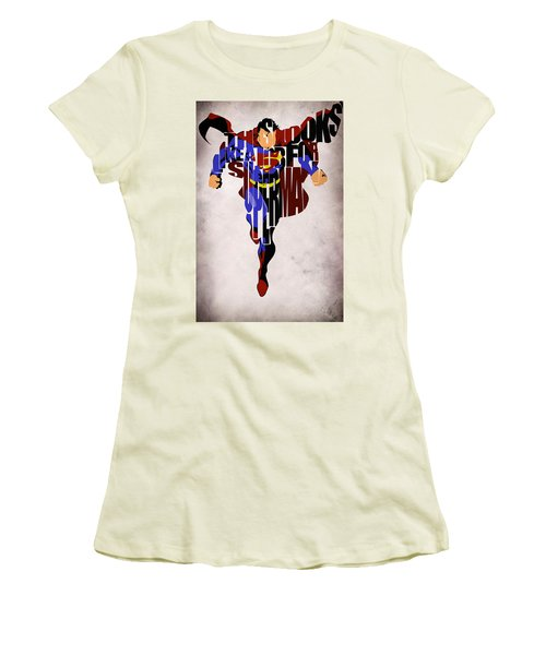 Superman - Man Of Steel Women's T-Shirt (Athletic Fit)