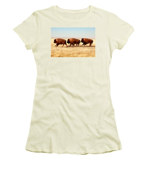 Tatanka Women's T-Shirt (Junior Cut) by Todd Klassy