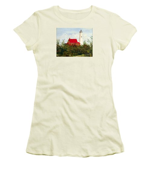 Women's T-Shirt (Junior Cut) featuring the painting Tawas by Lee Piper