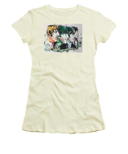 The Beatles 01 Women's T-Shirt (Athletic Fit)