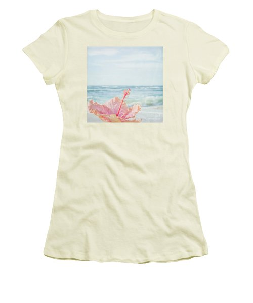 Women's T-Shirt (Athletic Fit) featuring the photograph The Blue Dawn by Sharon Mau